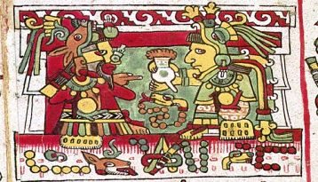 mixtec nobles enjoying a cup of xocolatl