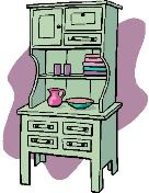 green kitchen hutch