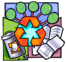 Save the earth by going green and recycling.