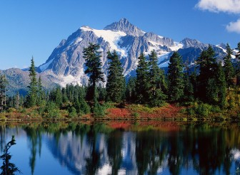 mountain landscape with water