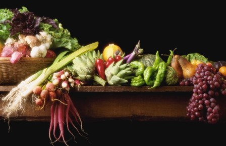 organic food, fruits and vegetables